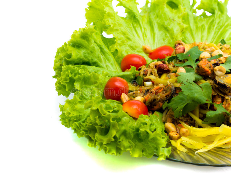 泰国食物沙拉壳。 免版税库存图片