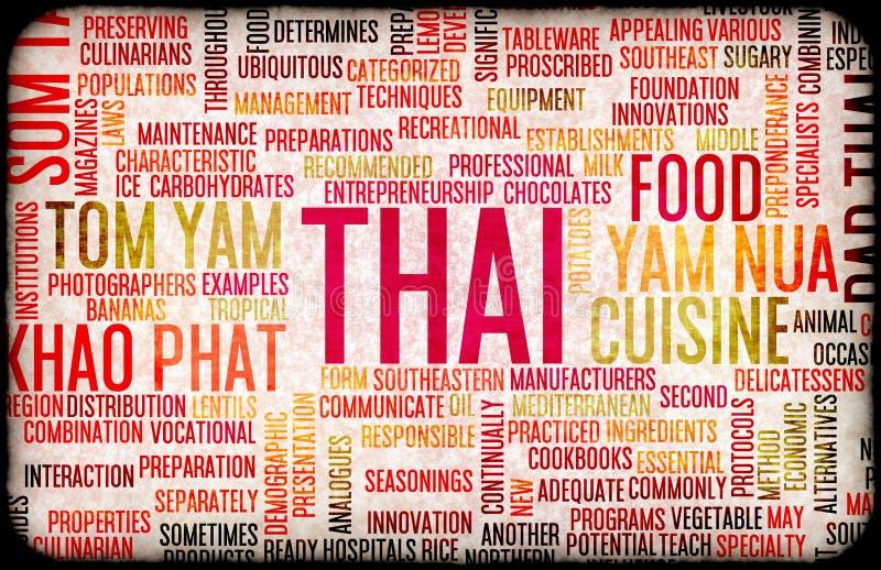 泰国食物菜单 向量例证