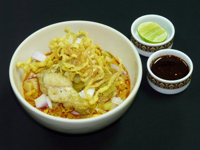 泰国食物, khao soi kai 库存图片
