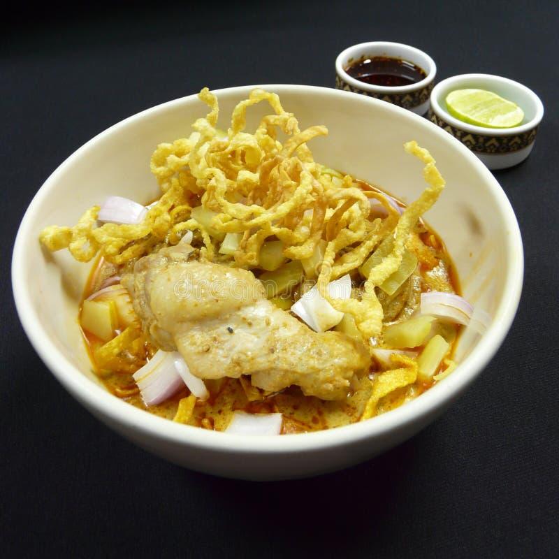 泰国食物, khao soi kai 图库摄影