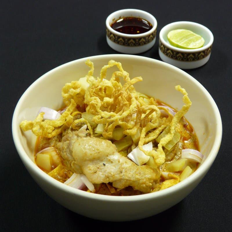 泰国食物, khao soi kai 库存照片