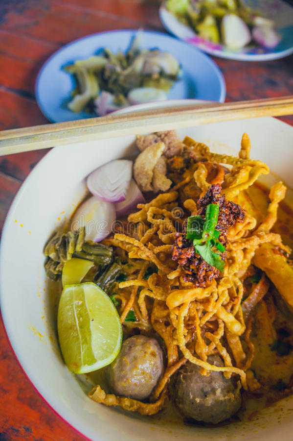 泰国食物& x28; 北Thai& x29; 图库摄影