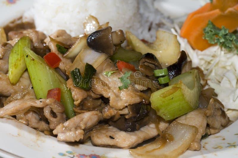 泰国食物khing的填充 图库摄影
