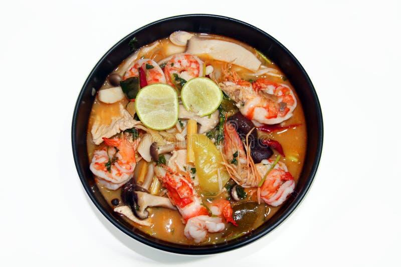 泰国食物Tomyum虾用柠檬 免版税库存照片