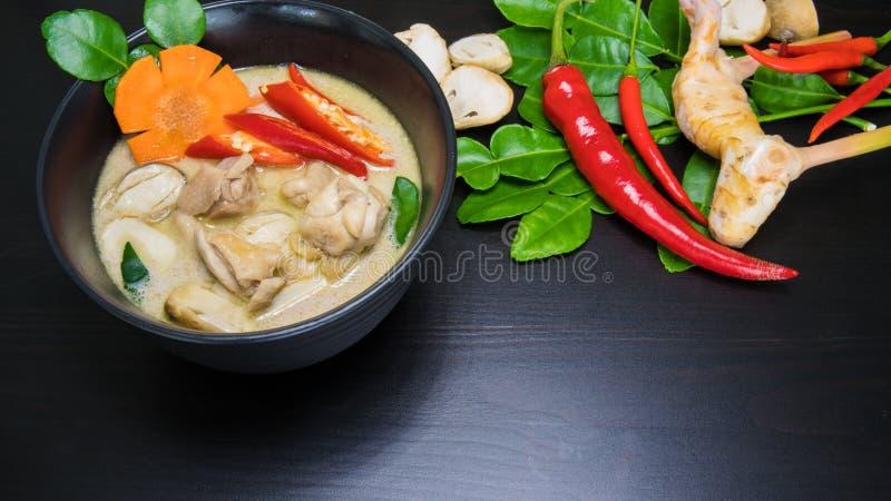 泰国鸡椰子汤-汤姆Kha盖氏 免版税库存照片