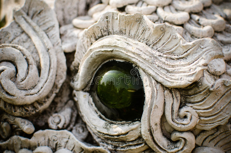 泰国龙的眼睛 库存图片