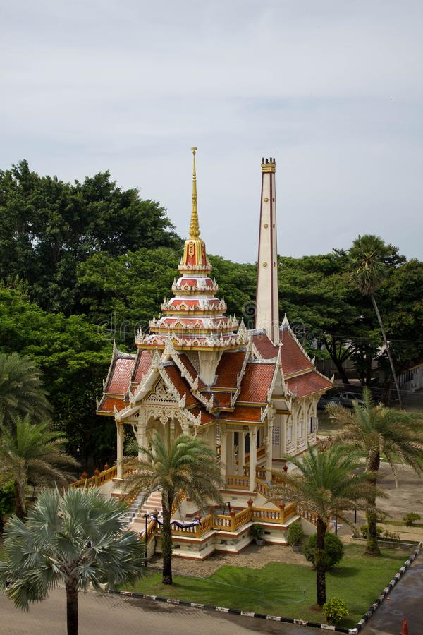泰国,普吉岛- 2018年3月:Wat查龙或Wat Chaiyathararam佛教寺庙复合体 查龙,普吉岛,泰国 ?? 免版税库存图片