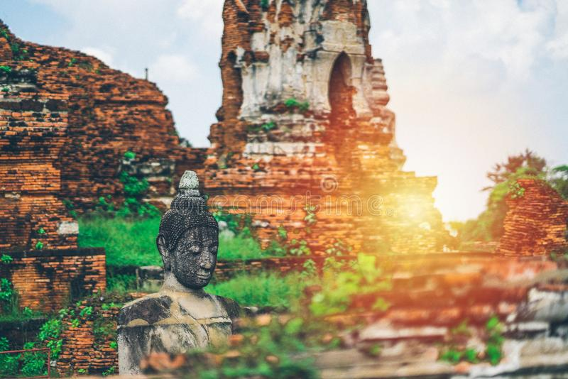 泰国,菩萨雕象,泰国的历史的崇拜 免版税库存照片