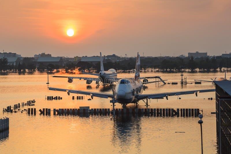 泰国洪水危机 免版税库存图片