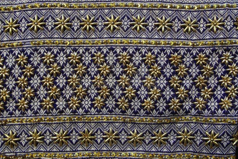 泰国织品样式泰国图表 库存照片