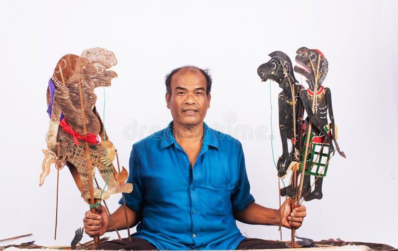 泰国阴影木偶戏 免版税图库摄影