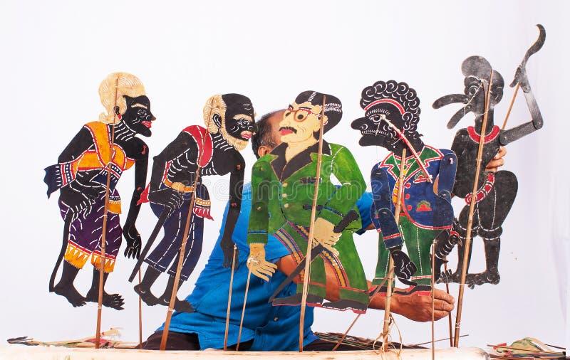 泰国阴影木偶戏 库存图片