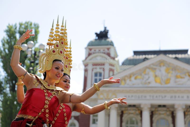 泰国(泰国)文化舞蹈 免版税库存图片