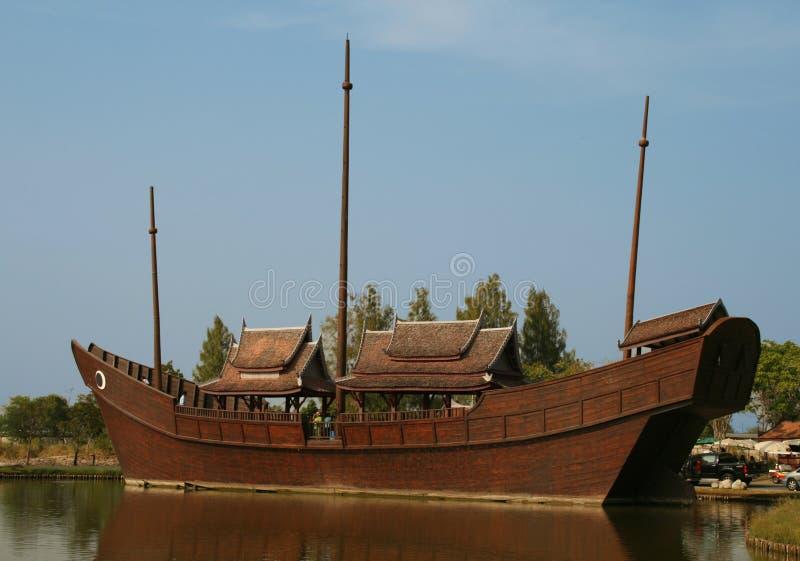 泰国破烂物在古城 库存照片