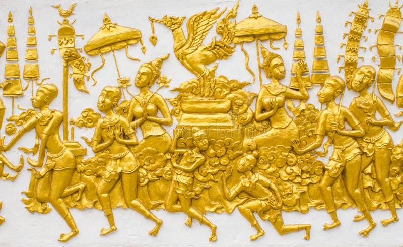 泰国绘画艺术墙壁 免版税库存图片