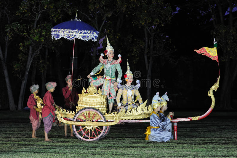 泰国1个的舞蹈 免版税库存图片