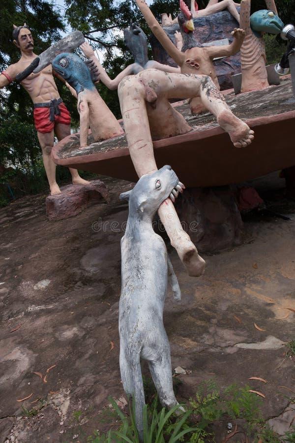 泰国buddism地狱 图库摄影