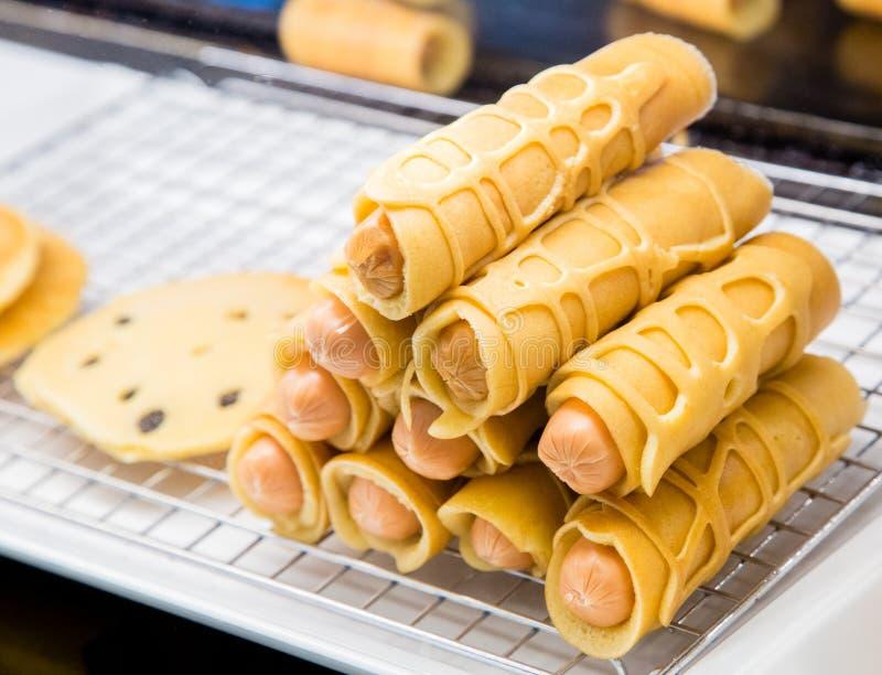 泰国steet食物-香肠 免版税库存图片