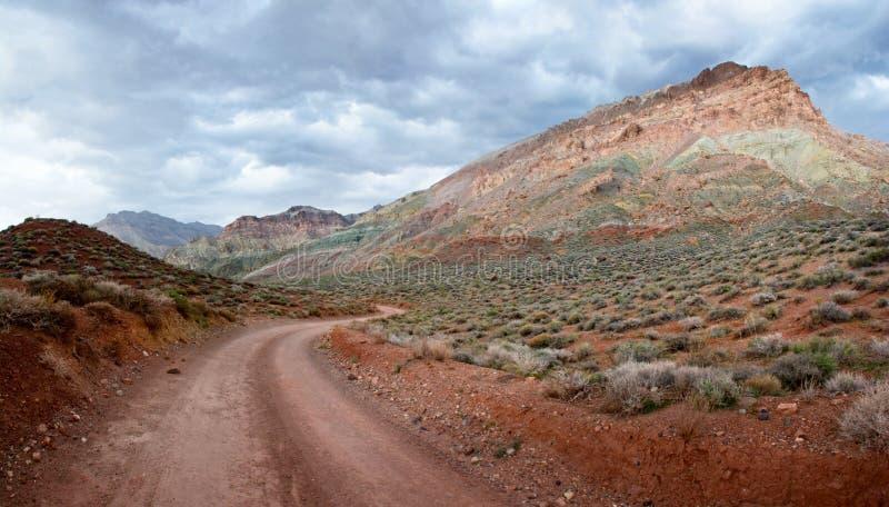 泰塔斯峡谷沙漠足迹 免版税库存照片
