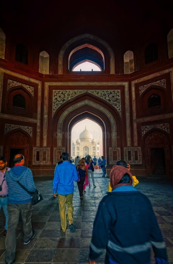 泰姬陵入口,印度 库存图片