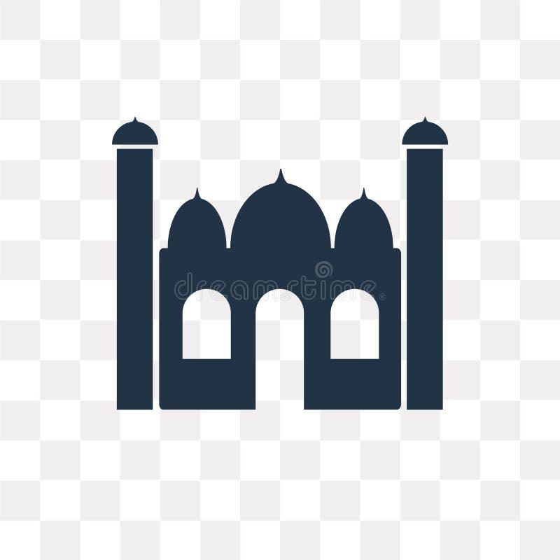 泰姬陵在透明背景隔绝的传染媒介象, Taj ma 皇族释放例证