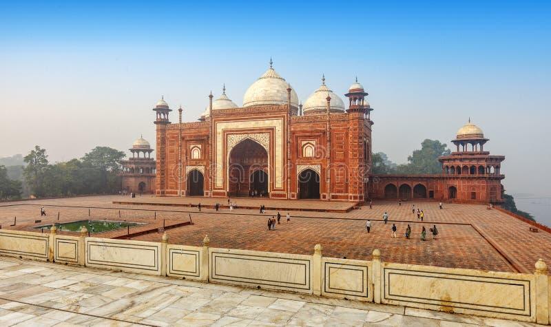 泰姬陵的Jawab清真寺,阿格拉,印度 免版税图库摄影