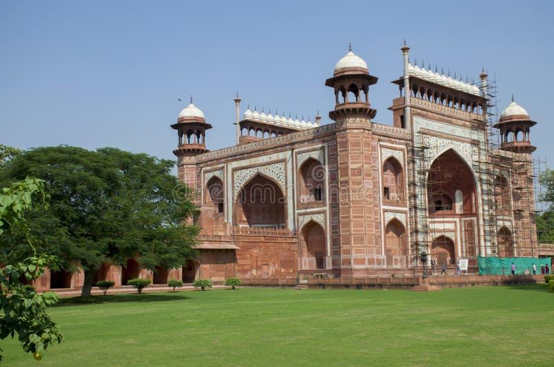 泰姬陵陵墓在阿格拉印度 库存图片