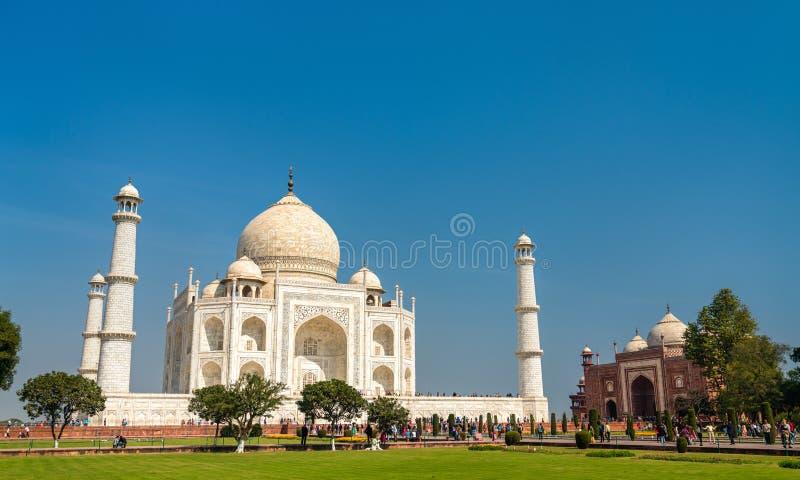 泰姬陵,印度的最著名的纪念碑 阿格拉-北方邦 库存照片