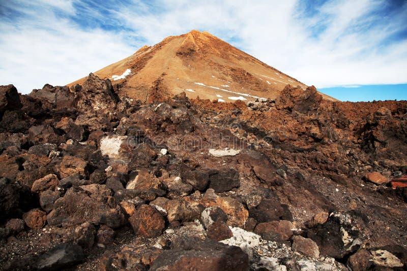 泰德峰火山山上面  库存图片