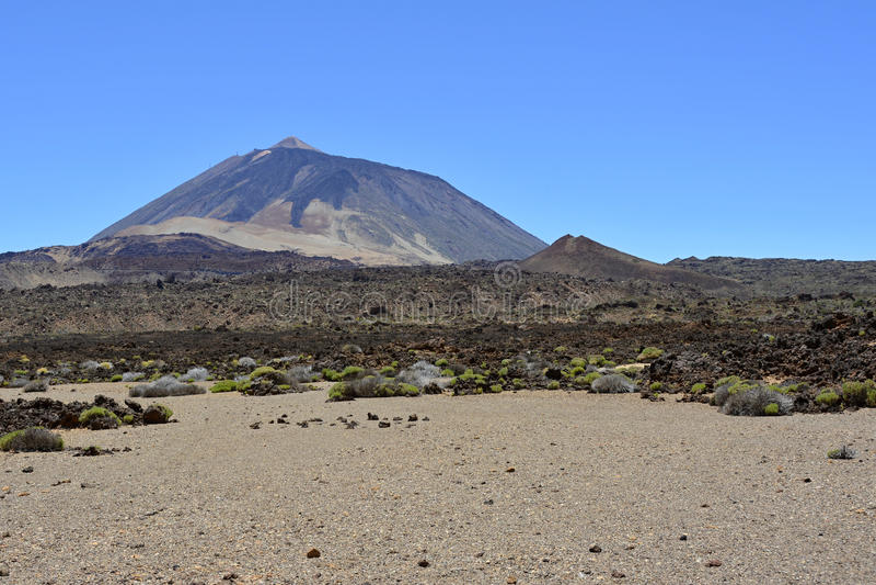 泰德峰(休眠火山),特内里费岛,加那利群岛,西班牙,欧洲 图库摄影