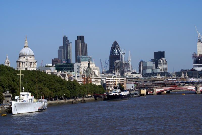 泰晤士河在伦敦,英国,欧洲 库存图片