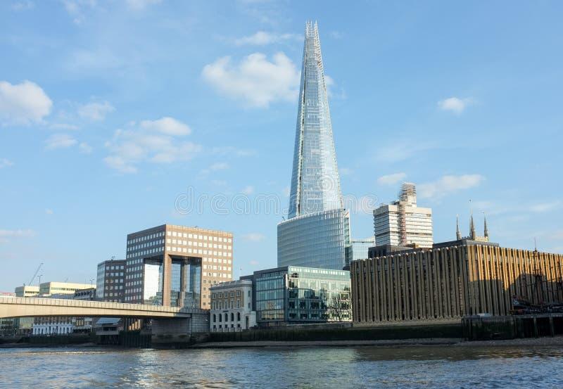 与碎片的伦敦地平线 免版税图库摄影