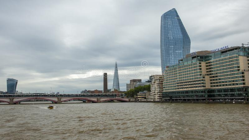 泰晤士河,伦敦 库存图片