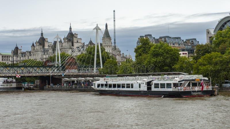 泰晤士河,伦敦 图库摄影