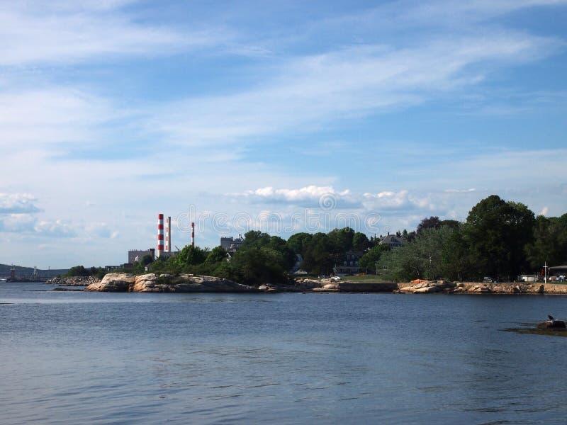 泰晤士河,它对海打开 免版税库存图片