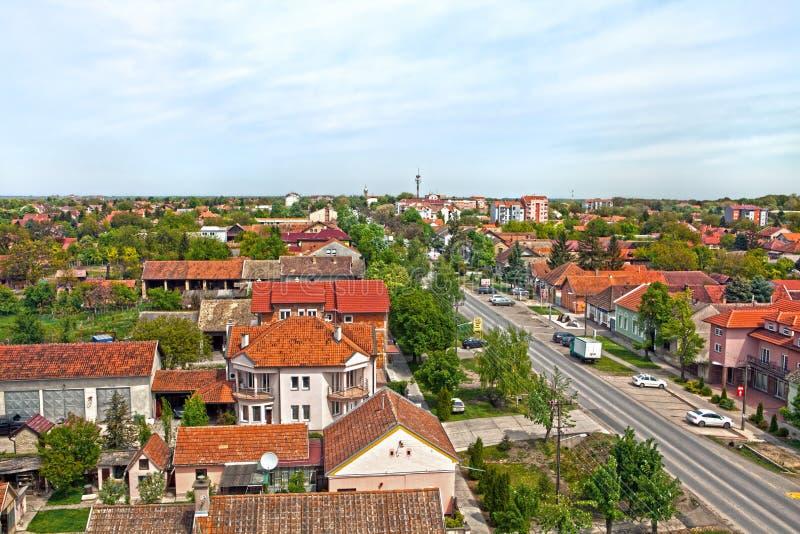 泰梅林市在塞尔维亚欧洲26 4 2017年 免版税图库摄影