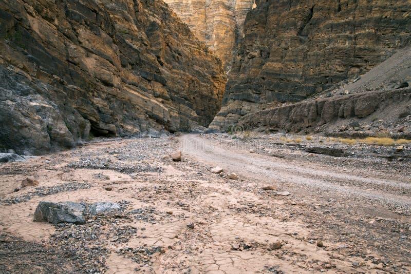 泰特斯峡谷在死亡谷国家公园 免版税库存图片
