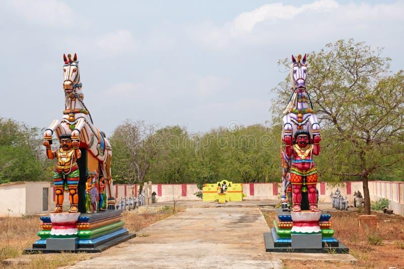 泰米尔・那杜村庄,印度的监护人 免版税库存照片