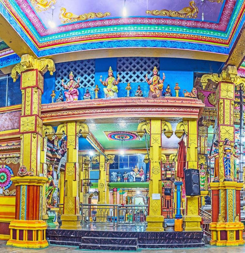 泰米尔人印度寺庙在Matale 免版税库存图片
