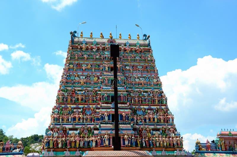 泰米尔人Kallumalai Murugan Kovil印度寺庙怡保马来西亚Gopuram塔  库存图片