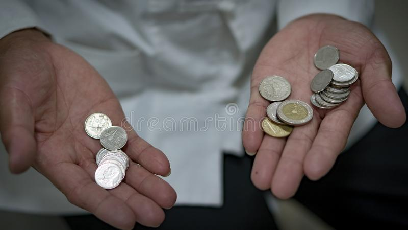 泰语里没什么钱 库存照片