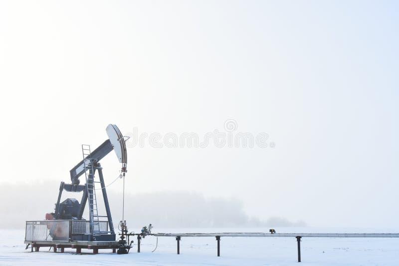 泵浦杰克和有雾 免版税图库摄影