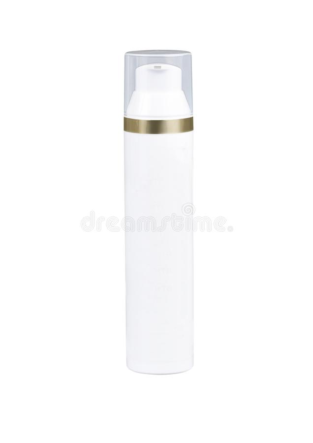 泵浦顶头瓶皮肤护理的奶油 库存图片