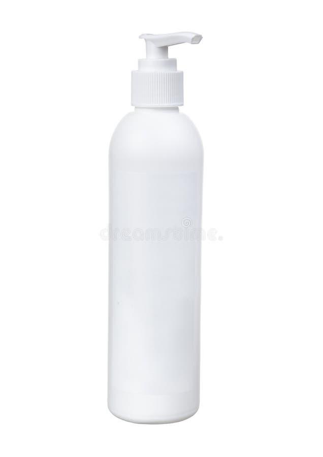 泵浦顶头瓶皮肤护理的奶油 免版税库存照片