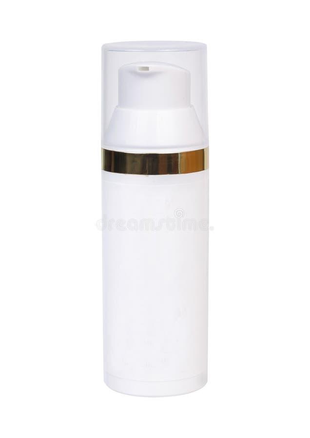 泵浦顶头瓶皮肤护理的奶油 图库摄影