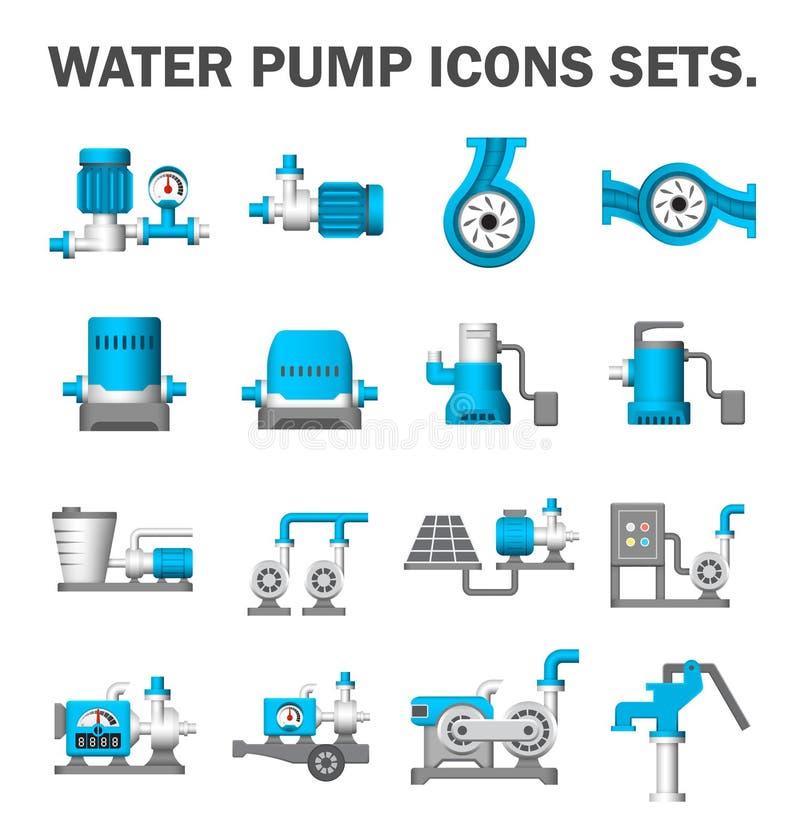 水泵集合 皇族释放例证