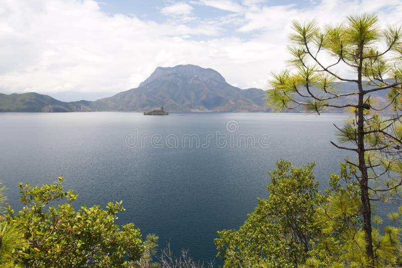 泸沽湖在云南,中国 图库摄影