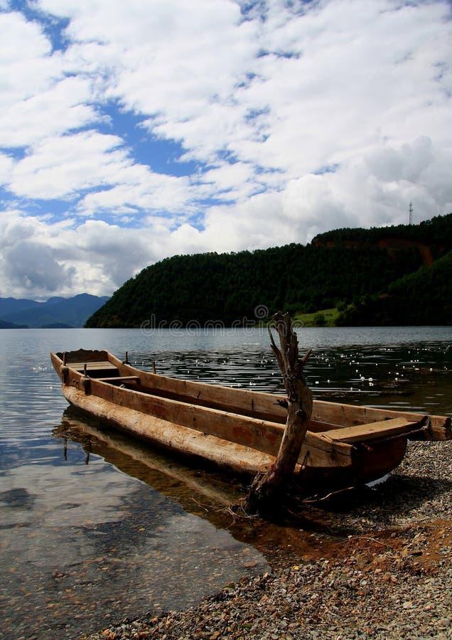泸沽湖,丽江,云南,中国 免版税库存照片