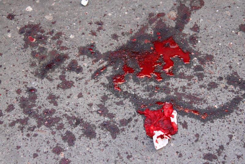 泼溅物和血迹 免版税库存照片
