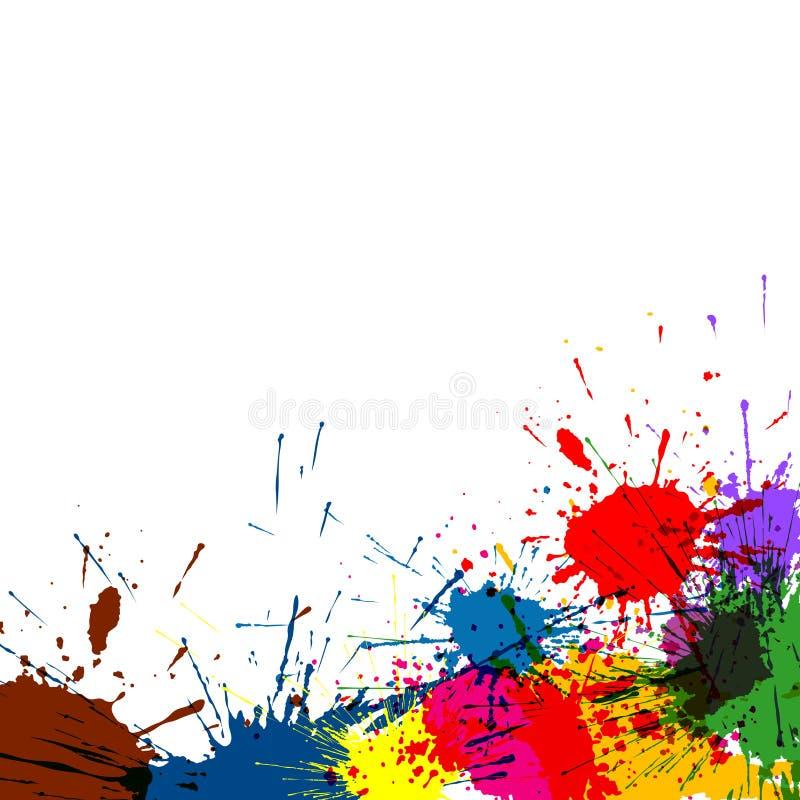 泼溅物油漆背景 向量例证